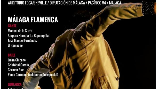 Cartel sobre el especáctulo en el auditorio Edgar Neville por el Día Internacional del Flamenco