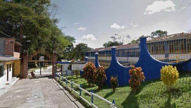 Colegio donde estudiaban los menores fallecidos.