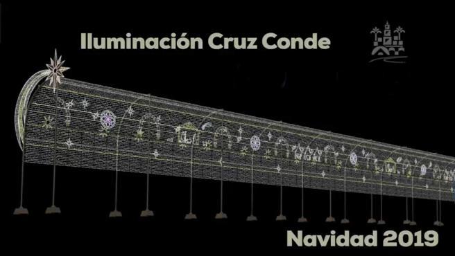 El espectáculo de luz y sonido por Navidad de Córdoba.
