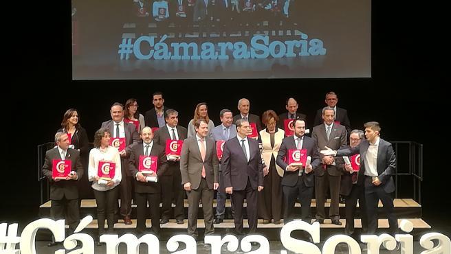 El presidente de la Junta en la entrega de premios de la gala del 120 aniversario de la Cámara de Soria