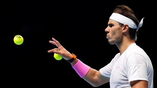 Rafa Nadal, en las ATP Finals 2019.