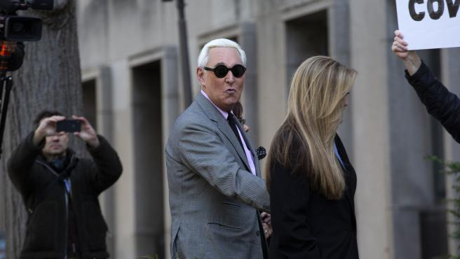 Roger Stone Arrives to Federal Court in DC