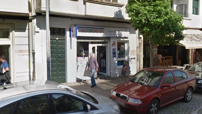 Administración de Loterías ubicada en Rúa dos Concheiros, 29, Santiago de Compostela.