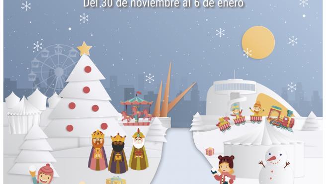 Cartel de la programación navideña de Avilés.