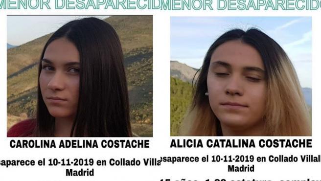Carolina Adelina Costache y Alicia Catalina Costache, ambas de 15 años, desaparecidas en Collado Villalba.