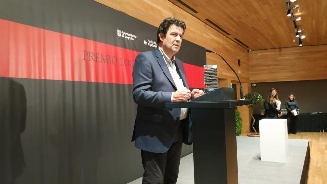El periodista, Javier Lorenzo, ganador del XIII Premio Logroño de Narrativa