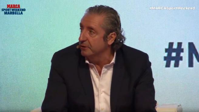 Josep Pedrerol, durante las charlas del 'Marca Sport Weekend' de Marbella.