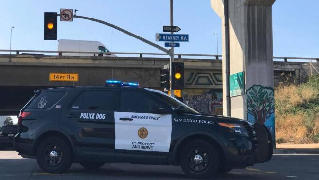 Imagen de archivo de un vehículo de la Policía de San Diego (California, EE UU).
