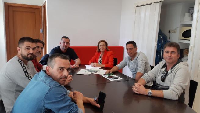 La concejala socialista Begoña Medina se reúne con representantes sindicales de empresas de mantenimiento de parques y jardines de Málaga