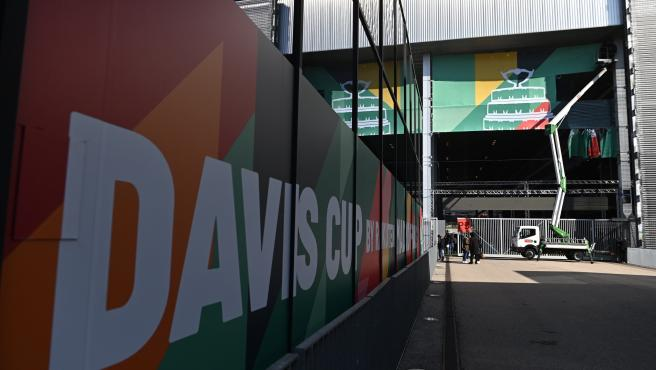 Vistas de la Caja Mágica en los días previos a las finales de la Copa Davis.