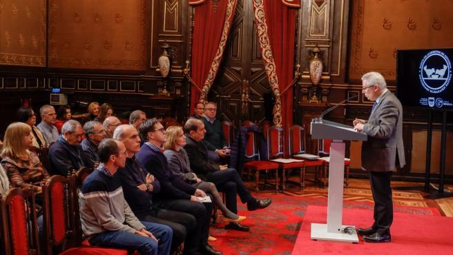Diputación reconoce a las empresas colaboradoras del Banco de Alimentos.