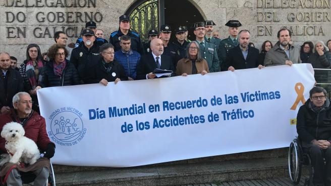 El delegado del Gobierno, Javier Losada, asiste al acto del Día Mundial en Recuerdo de las Víctimas de Accidentes de Tráfico