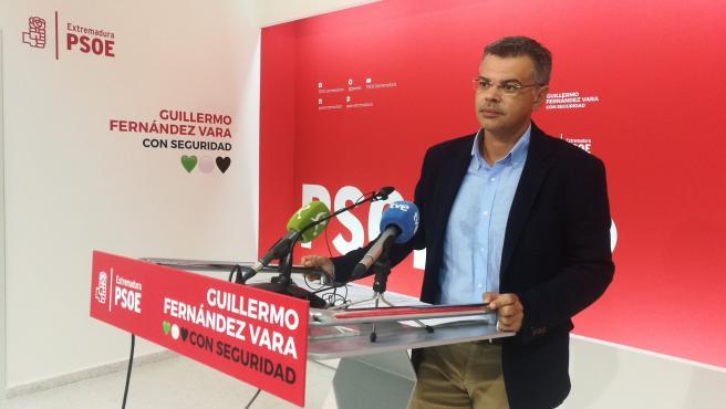 El portavoz del PSOE extremeño, Juan Antonio González, en una imagen de archivo