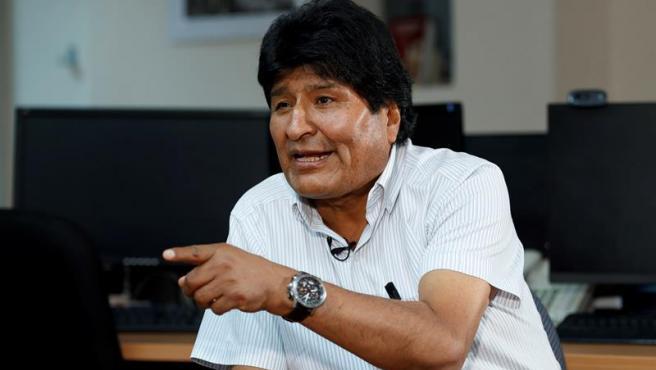 El expresidente de Bolivia Evo Morales, durante una entrevista en Ciudad de México.