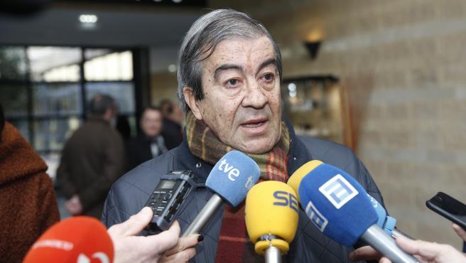Foto: DAMIAN ARIENZA, Gijon, Asturias, 17 Enero 2019, fallecimiento de Don Vicente Alvarez Areces, ex-presidente del Gobierno de Asturias, tanatorio de cabuñes