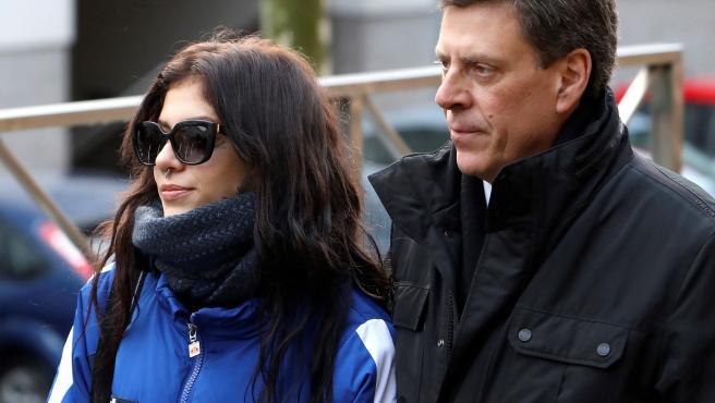 Juan Carlos Quer, con Valeria.