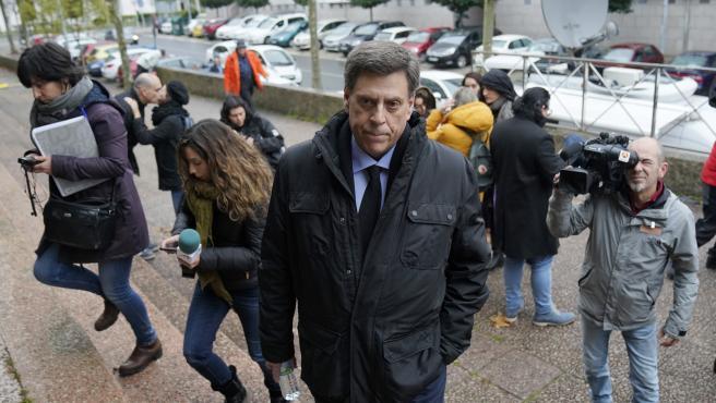 Juan Carlos Quer, padrer de Diana Quer llega al Juicio asesinato Diana Quer - acusado Jose Enrique Abuín
