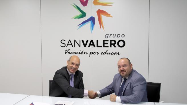 Centro Zaragoza y Grupo San Valero firman un acuerdo de colaboración.