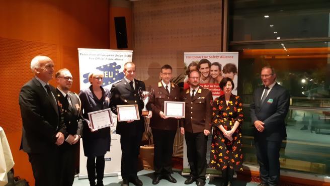 El proyecto 'Firefighters Plus' llevado a cabo por los bomberos de Alcalá, galardonado con el European Fire Safety Award