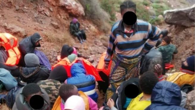 Inmigrantes atrapados en las islas Chafarinas.