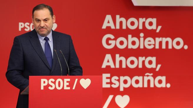 El secretario de Organización del PSOE y ministro de Fomento, José Luis Ábalos.