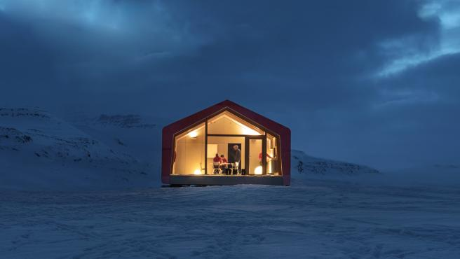 La casa construida en Isla Disko, Groenlandia, por el equipo de Ariston.