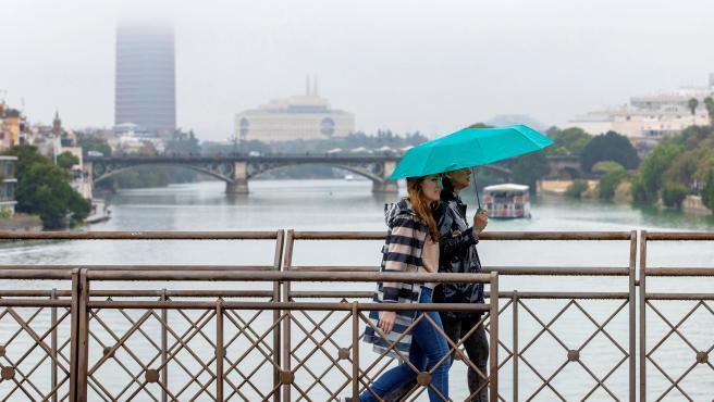Día lluvioso en Sevilla.