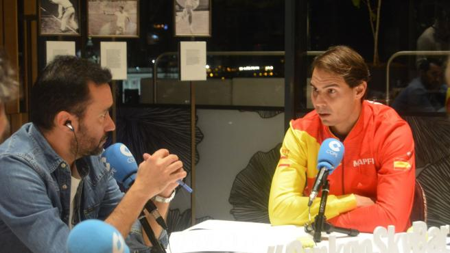 Rafa Nadal, con Juanma Castaño en El Partidazo de Cope.