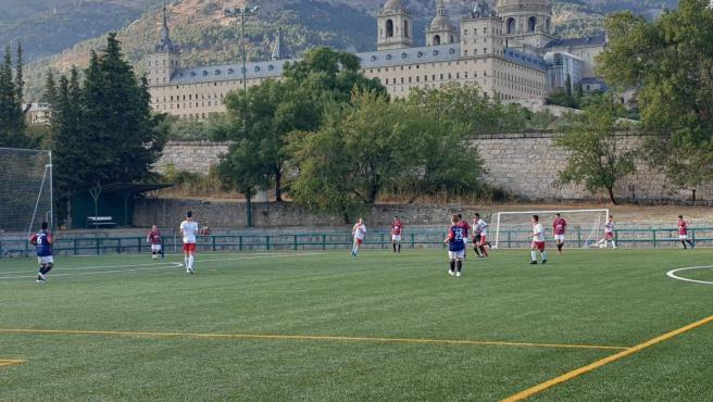 El Campo de fútbol de la Herreria en foto de archivo