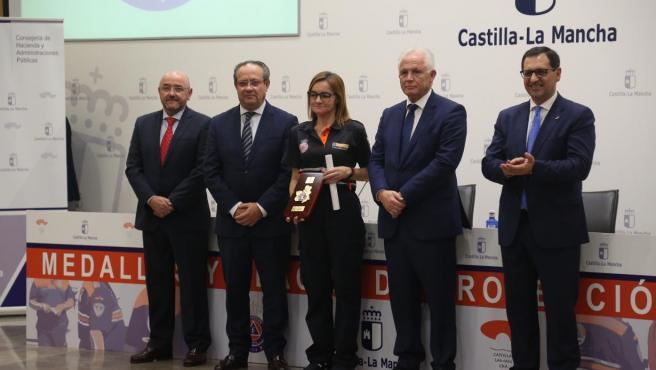 Acto de entrega de 27 medallas y placas de Protección Civil de Castilla-La Mancha.