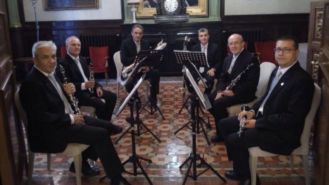 El grupo instrumental de la Diputación Provincial de Zaragoza.