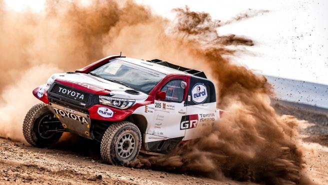 Fernando Alonso, durante el rally Al Ula-Neom previo al Dakar.
