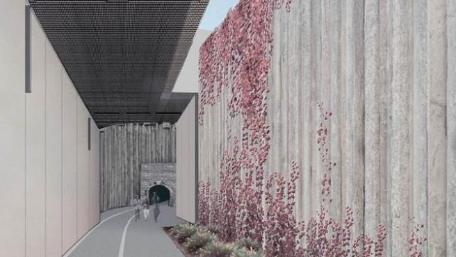 Infografía del proyecto de reapertura del antiguo Túnel de Tetuán
