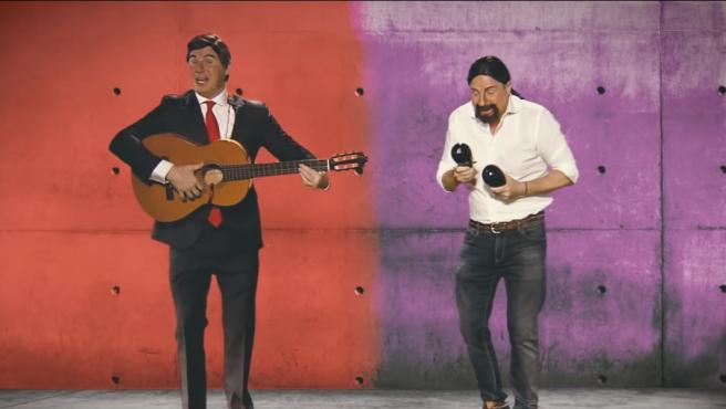 Los Morancos parodian a Pedro Sánchez y Pablo Iglesias con la canción 'Contigo ahora sí quiero gobernar'