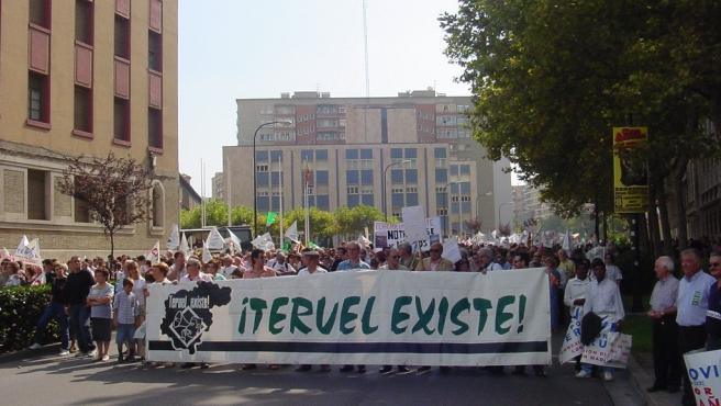 Manifestación en Zaragoza convocada por Teruel Existe.
