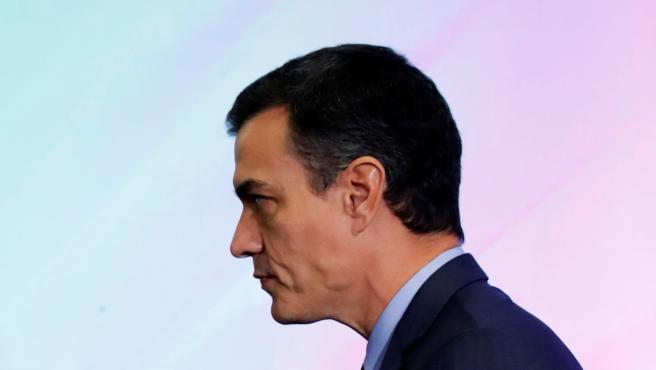 Pedro Sánchez, este miércoles en el acto de clausura.