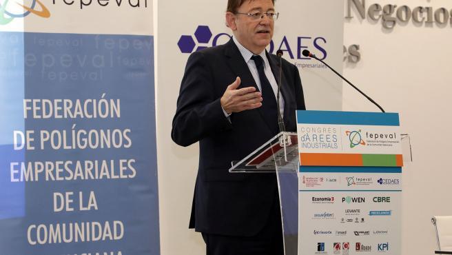 Puig en la inauguración del Congres de la Federación de Polígonos Empresariales