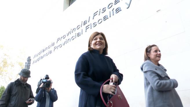 Bonig a su llegada a la Ciudad de la Justicia de València