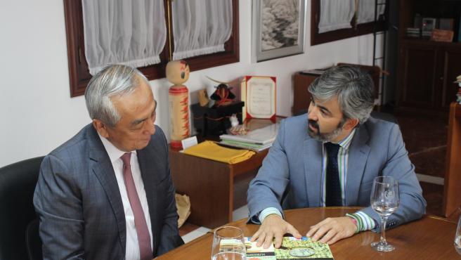 El nuevo embajador de Japón visita Coria