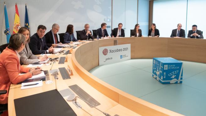Feijóo preside la reunión del Consello de la Xunta