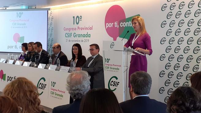 Imagen de Victoria Eugenia Pineda, nueva presidenta de CSIF Granada