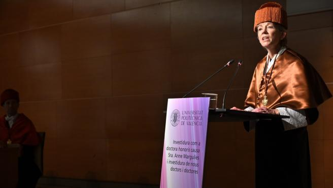 Investidura como doctora honoris causa por la UPV de Anne Margulies