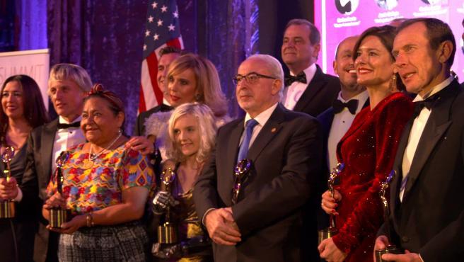 José Luis Mendoza, en la entrega de premios de los New York Awards, galardonado 'por su compromiso y contribución social'