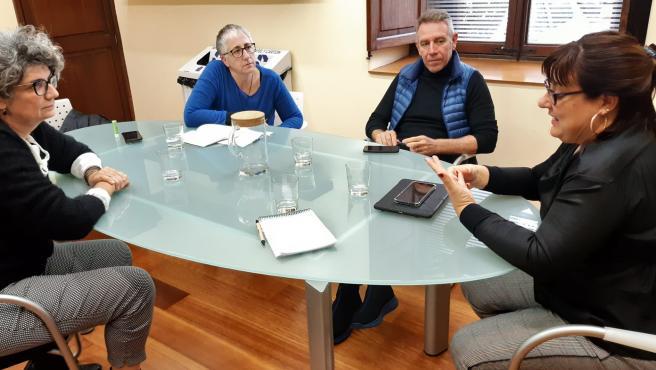 Reunión entre la Secretaría autonómica de Política lingüística y la vicepresidenta del Consell de Mallorca, Bel Busquets.