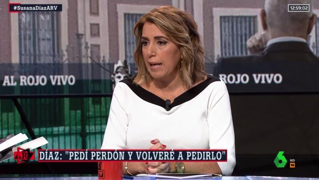 Susana Díaz, en una entrevista en La Sexta.
