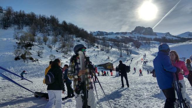 Uuarios estaciones de esquí asturianas.