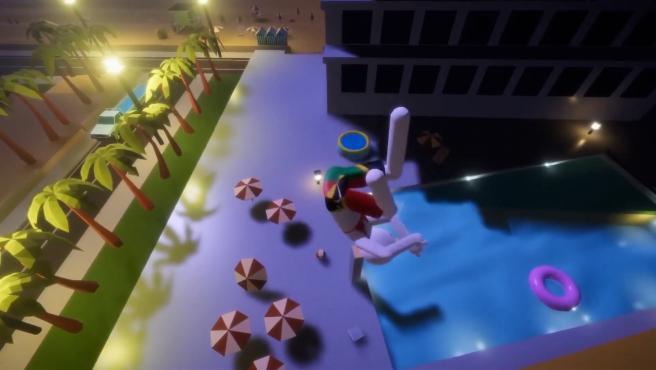 Captura del videojuego 'Balconing Simulator 2020'.