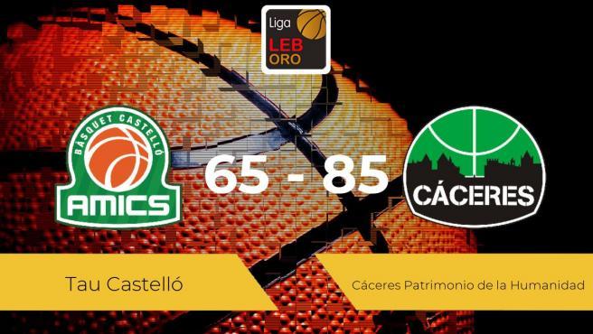 El Cáceres Patrimonio de la Humanidad se lleva la victoria frente al Tau Castelló por 65-85