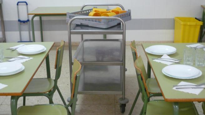 Imagen de archivo de un comedor escolar