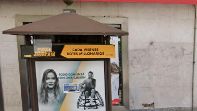 Imagen del quiosco de la ONCE situado en la calle Hilarión Eslava, 26.
